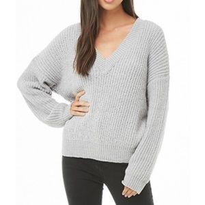 Gray Chenille Cozy Sweater